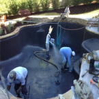 Arizona Pool Builder - New Custom Pool being Built